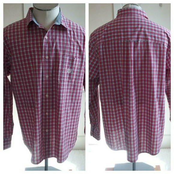 Chaps Other - Red White Blue Chaps Button Down Long Sleeve Shirt